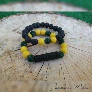 Men's Beaded Bracelet set